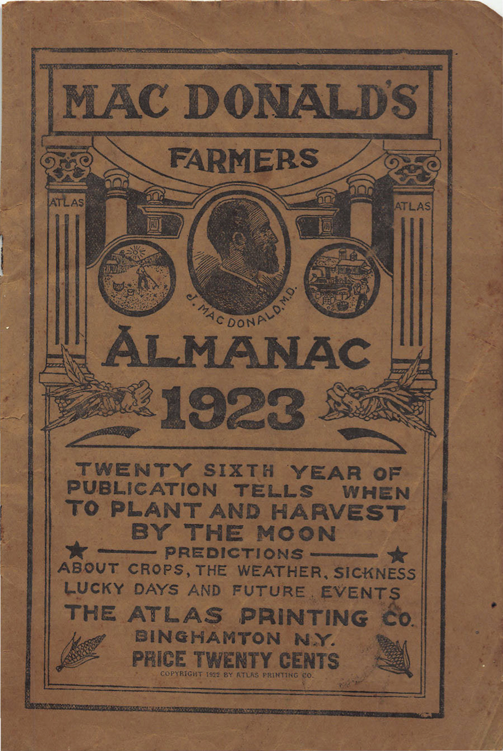 macdonald u0026 39 s farmers almanac and dream book  iapsop